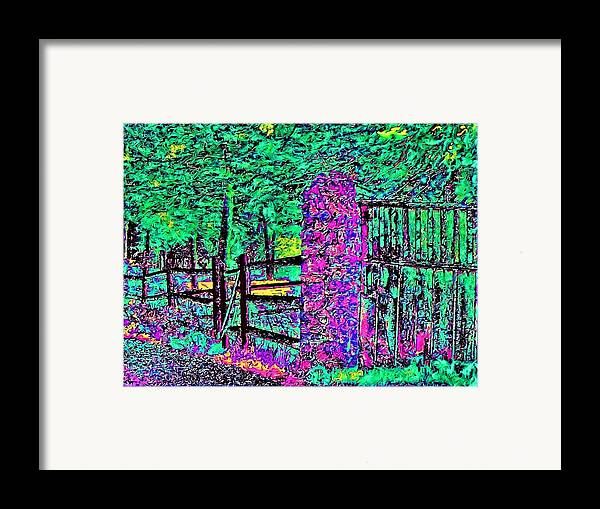 Landscape Framed Print featuring the photograph 08f Fences Of Maine by Ed Immar