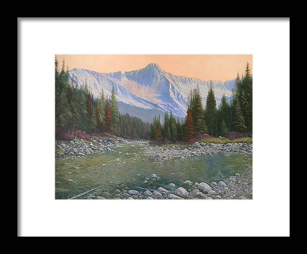 Landscape Framed Print featuring the painting 090516-3040 Enchanted by Kenneth Shanika