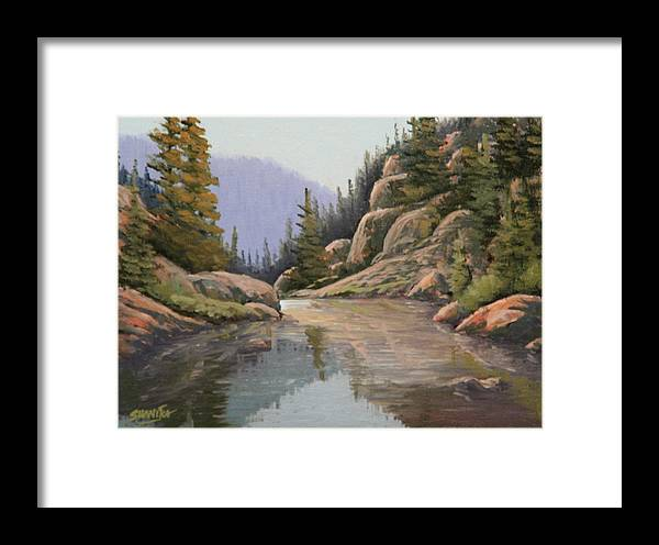 Landscape Framed Print featuring the painting 090907-68  Almost There by Kenneth Shanika