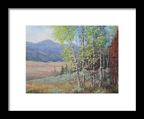 Landscape Framed Print featuring the painting 090925-68  The Peak Of Summer by Kenneth Shanika