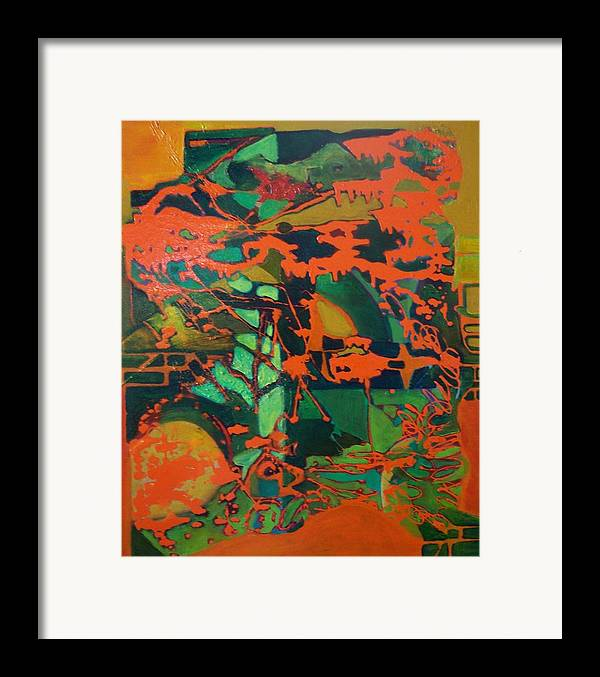 Lanscape Framed Print featuring the print 0range Garden by Meltem Quinlan