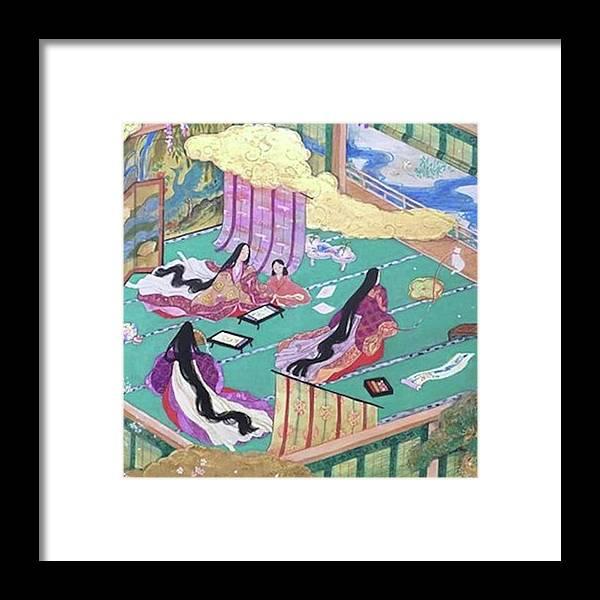 絵合せ Framed Print featuring the photograph 絵巻風#絵巻 #japanesepainting by Tomoko Nakai