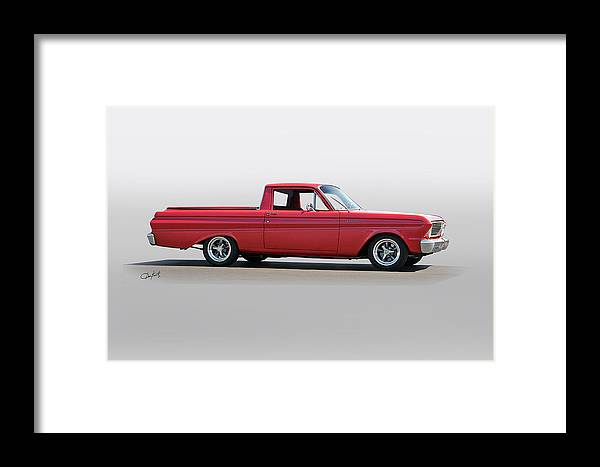 Auto Framed Print featuring the photograph 1965 Ford Ranchero by Dave Koontz
