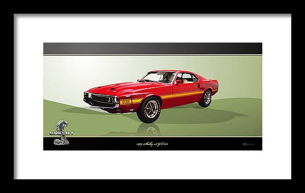 Wheels Of Fortune By Serge Averbukh Framed Print featuring the photograph 1969 Shelby v8 GT350 by Serge Averbukh