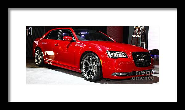 Auto Framed Print featuring the photograph 2015 Chrysler 300 Sport by Alan Look