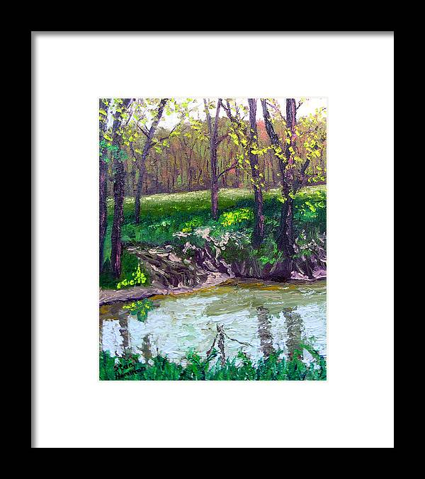 Plein Air Framed Print featuring the painting 4 28 by Stan Hamilton