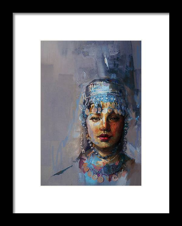 Sindh Framed Print featuring the painting 9 Pakistan Folk Khyber Pakhtunkhwac by Mahnoor Shah