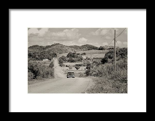 Cuba Travel Framed Print featuring the photograph A Country Ride by Mary Buck