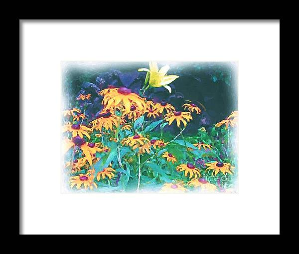 Mixed Media Framed Print featuring the painting A Lily In The Field by Patricia Griffin Brett
