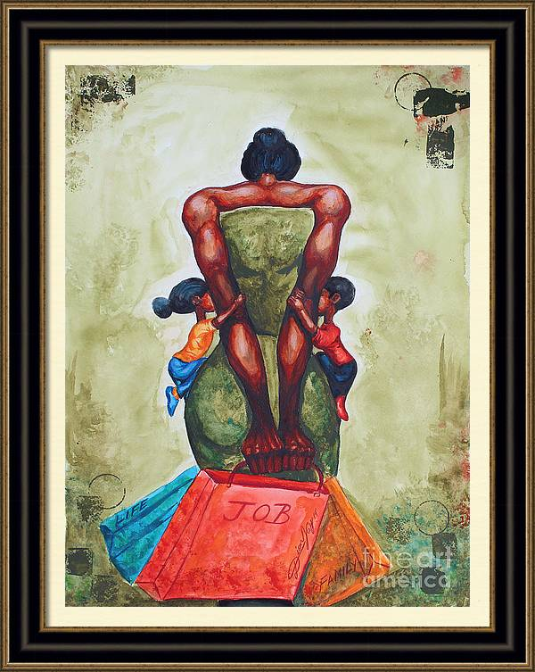 A Mother's Strength by The Art of DionJa'Y