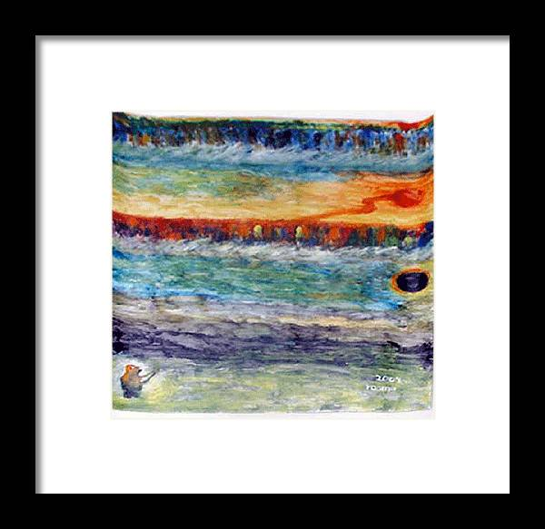 Miracle Framed Print featuring the painting A New Dawn.. by Rooma Mehra