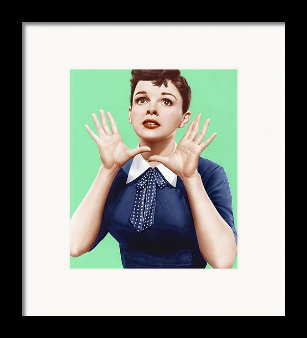 1950s Portraits Framed Print featuring the photograph A Star Is Born, Judy Garland, 1954 by Everett