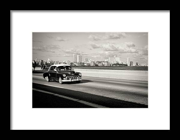 Cuba Framed Print featuring the photograph A Sunday Drive by Mary Buck