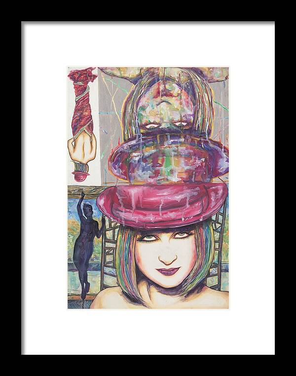 Cindy Lauper Framed Print featuring the mixed media A True Color 1 by Joseph Lawrence Vasile