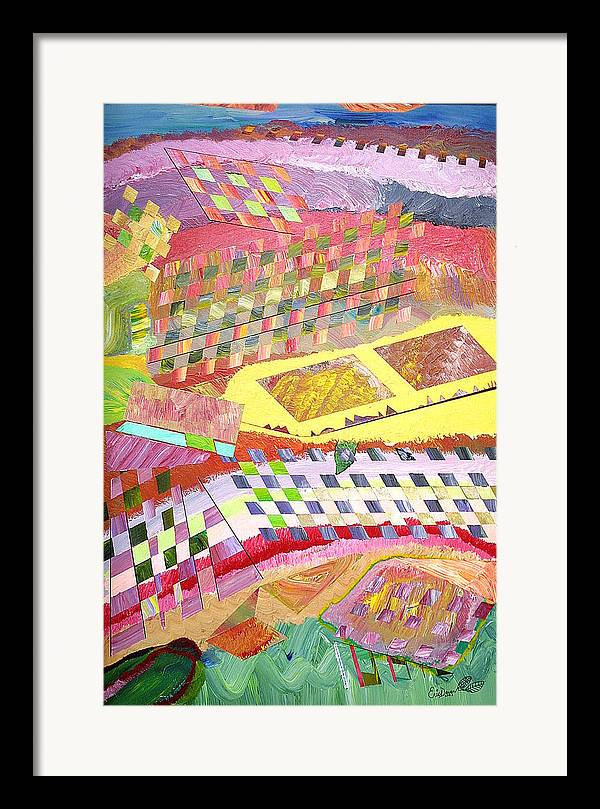Fantasy Framed Print featuring the painting A View From Above by Eric Devan