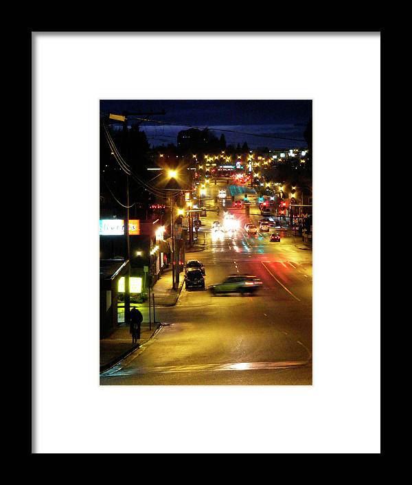 Framed Print featuring the photograph Abbotsford Lights 05 by Attila Jacob Ferenczi