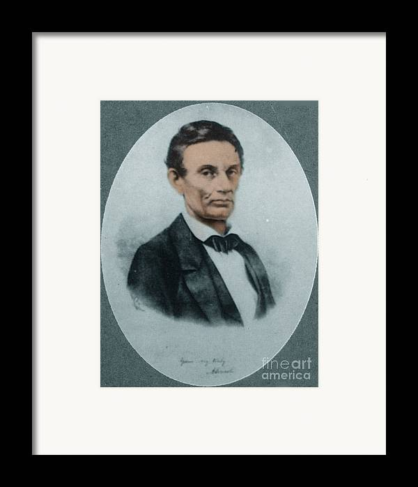 History Framed Print featuring the photograph Abraham Lincoln, 16th American President by Science Source