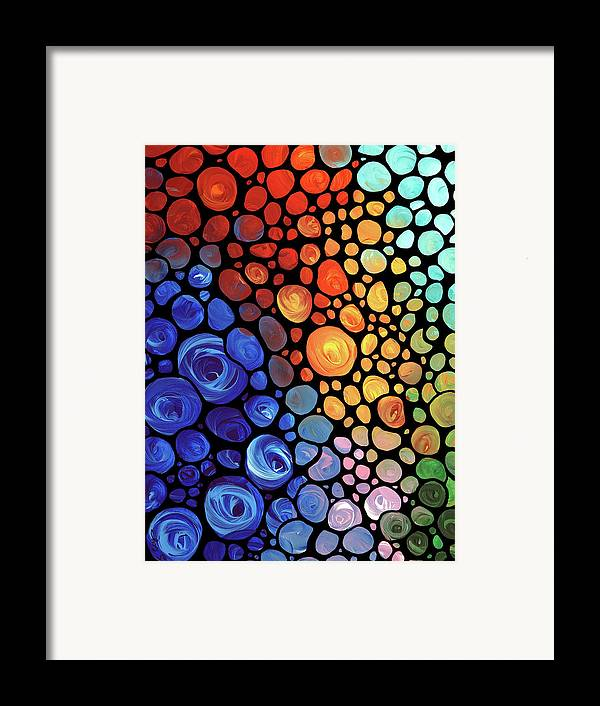 Abstract Framed Print featuring the painting Abstract 1 by Sharon Cummings