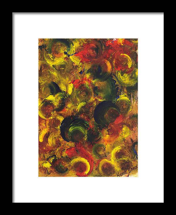 Abstract Painting Framed Print featuring the painting Abstract Art by Hema Rana