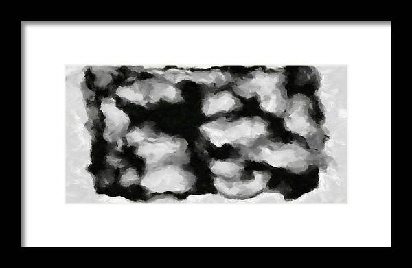Framed Print featuring the painting Abstract Monochome 159 by D A Diggs