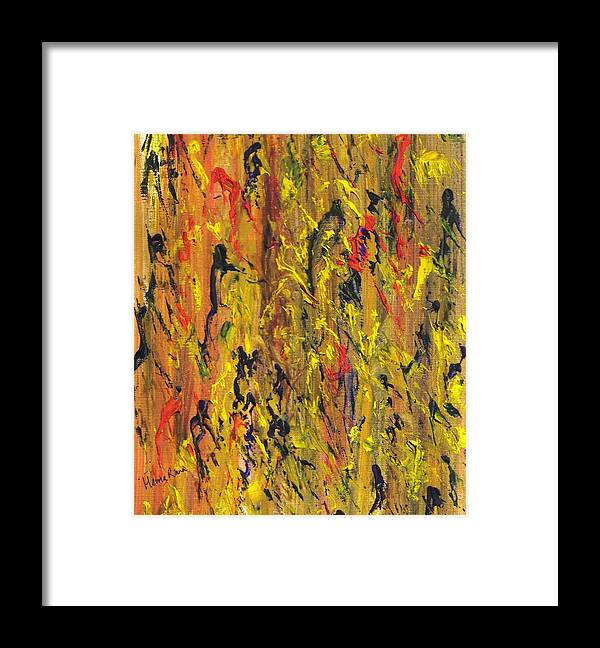 Abstract Paintings Framed Print featuring the painting Abstract Pattern by Hema Rana