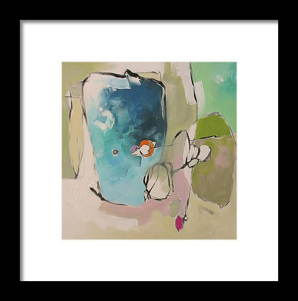 Painting Framed Print featuring the painting Across The Pond by Linda Monfort