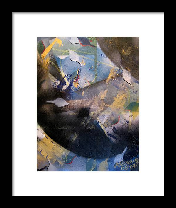Framed Print featuring the painting Activated Charcoal by Andrea Noel Kroenig