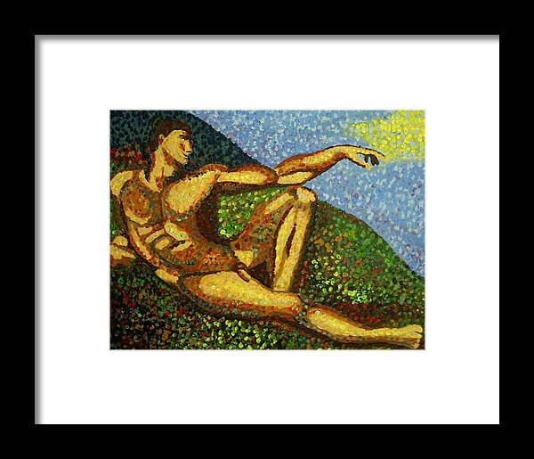 Impressionism Framed Print featuring the painting Adam by Mats Eriksson