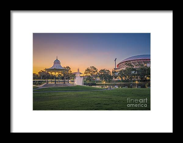 Australia Framed Print featuring the photograph Adelaide Sunset by Ray Warren