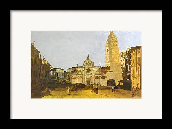 Landscape Framed Print featuring the painting After Campo Santa Maria Formosa by Hyper - Canaletto