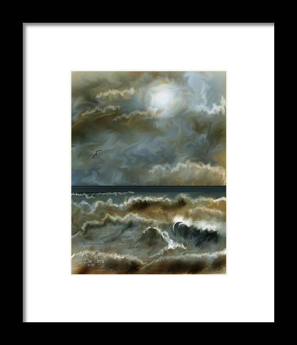Seascape Framed Print featuring the painting After The Squall by Anne Norskog