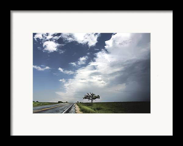 Landscape Framed Print featuring the photograph After The Storm by Al Mueller