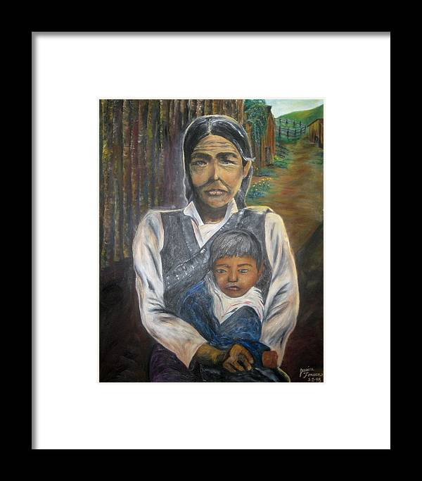 Framed Print featuring the painting Ague by Jessica De la Torre