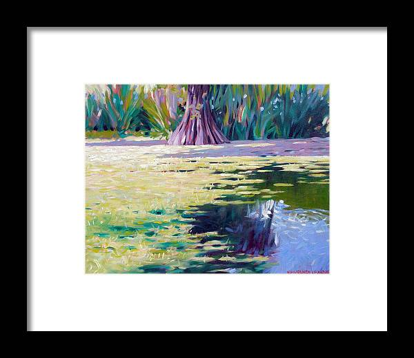 Water Framed Print featuring the painting Algae by Kevin Lawrence Leveque