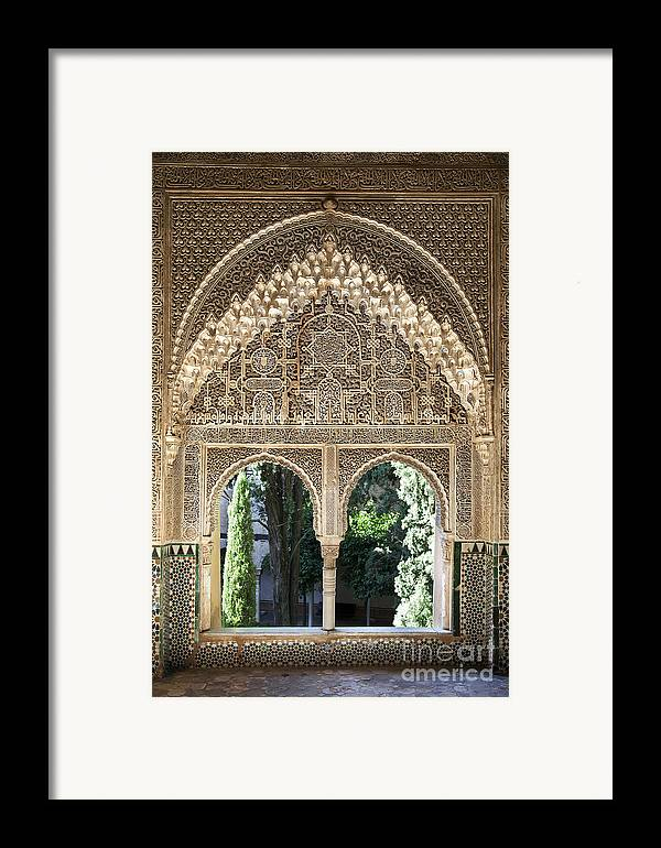 Alhambra Framed Print featuring the photograph Alhambra Windows by Jane Rix