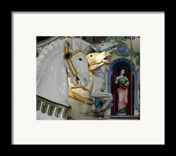 Crescent Park Framed Print featuring the photograph All The Pretty Horses by Anne Babineau