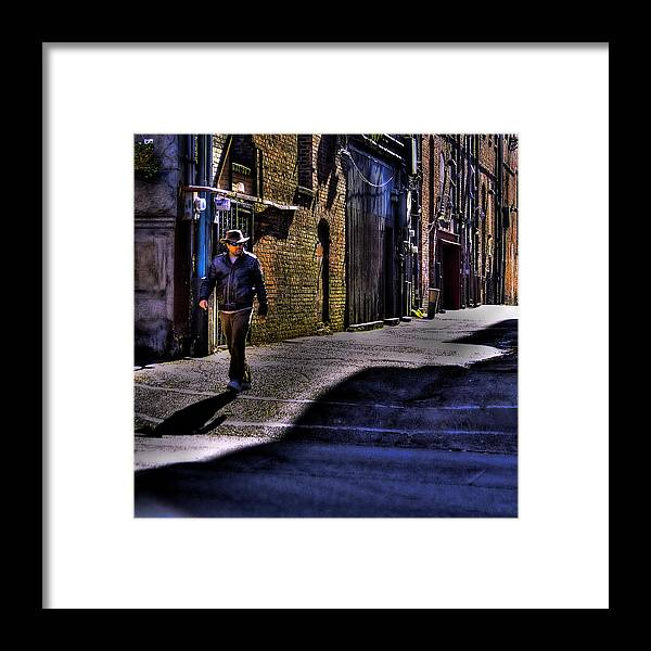 Pioneer Square Framed Print featuring the photograph Alley Stroll by David Patterson