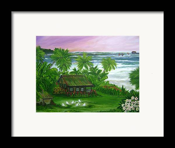 Hawaii Framed Print featuring the painting Aloha Morning by Laura Johnson