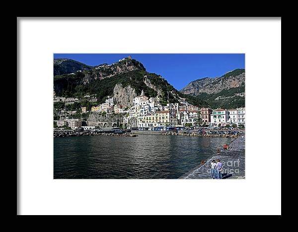 Amalfi Framed Print featuring the photograph Amalfi, Campania, Italy by Lilach Weiss