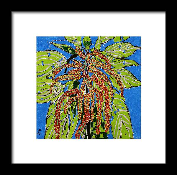 Landscape Framed Print featuring the painting Amaranthus Sold by Ray Petersen