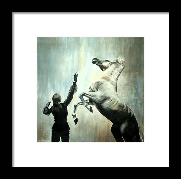 Horses Framed Print featuring the painting Amazing Grace by Fiona Jack