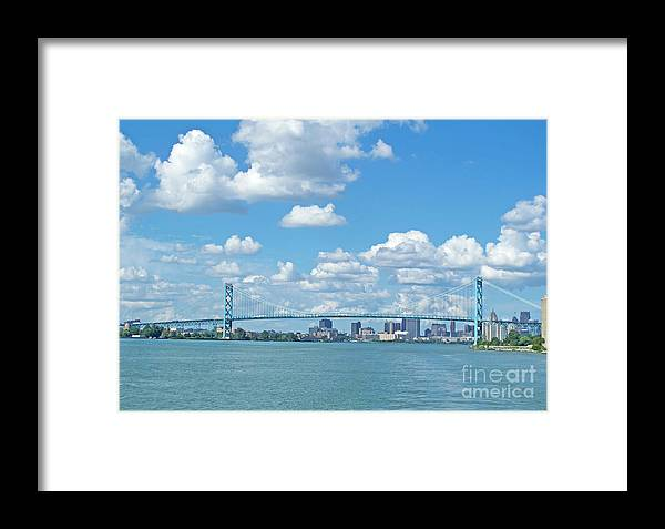 Bridge Framed Print featuring the photograph Ambassador Bridge by Ann Horn