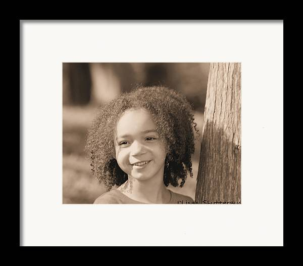 Framed Print featuring the photograph Amelia 4 by Lisa Johnston