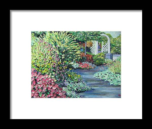 Garden Framed Print featuring the painting Amelia Park Pathway by Richard Nowak