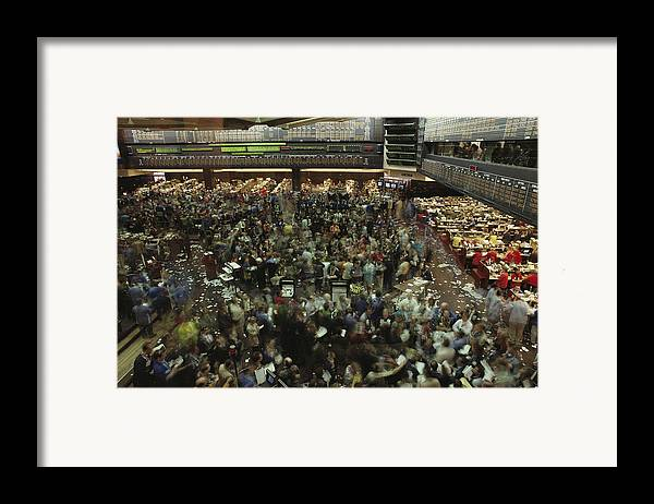 North America Framed Print featuring the photograph An Elevated View Of Traders by Michael S. Lewis