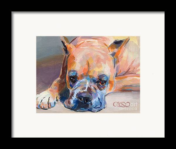 Boxer Framed Print featuring the painting Andre by Kimberly Santini