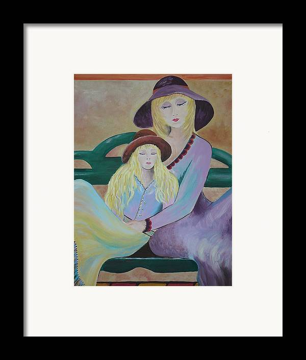 Mother/daughter Framed Print featuring the painting Angel Face by Kris Crollard