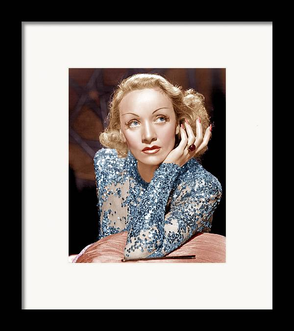 1930s Movies Framed Print featuring the photograph Angel, Marlene Dietrich, 1937 by Everett