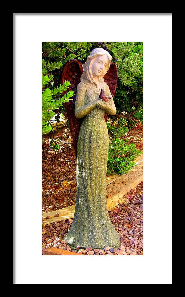 Angel Framed Print featuring the photograph Angel Of The Birds by Lessandra Grimley