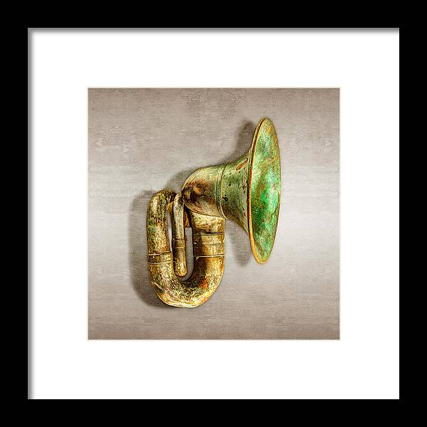 Antique Framed Print featuring the photograph Antique Brass Car Horn by YoPedro